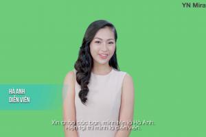 Diễn viên Hà Anh chia sẻ bí quyết làm đẹp với bộ mỹ phẩm Hàn Quốc – YN medical cosmetics