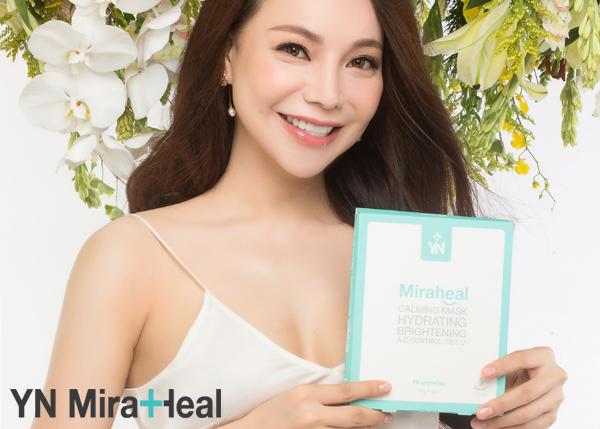 Á hậu Trà Ngọc Hằng cũng đã tin dùng mặt nạ YN Miraheal Calming Mask để chăm sóc da