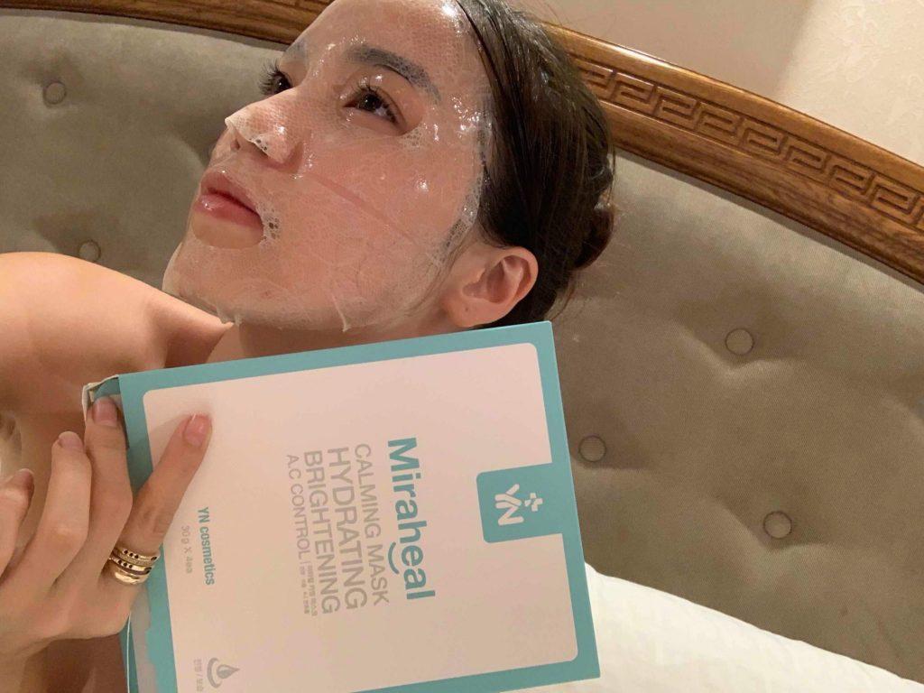 Mặt nạ dưỡng da Hàn Quốc YN Miraheal Calming Mask với cấu tạo ren đặc biệt, an toàn sử dụng với mọi loại da