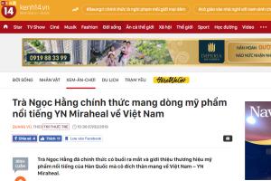 Báo chí Việt Nam nói gì về thương hiệu mỹ phẩm Hàn Quốc YN Miraheal?