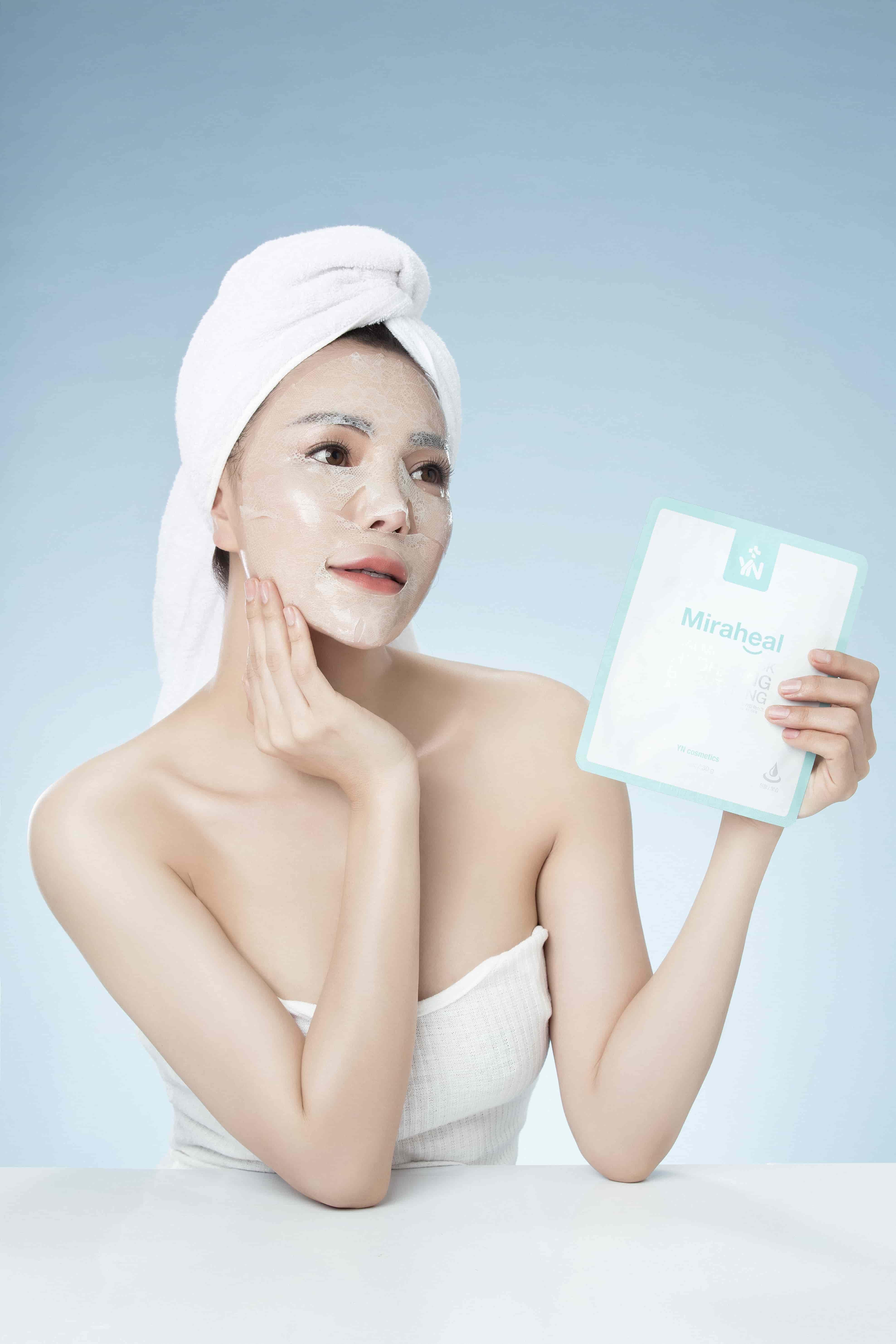 Mặt nạ dưỡng ẩm YN Miraheal Calming Mask an toàn với làn da nhạy cảm