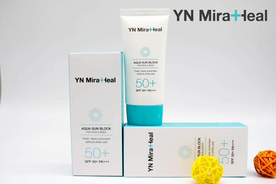 Kem chống nắng quang phổ rộng YN Miraheal Cushion là kem chống nắng tốt nhất cho mọi loại da