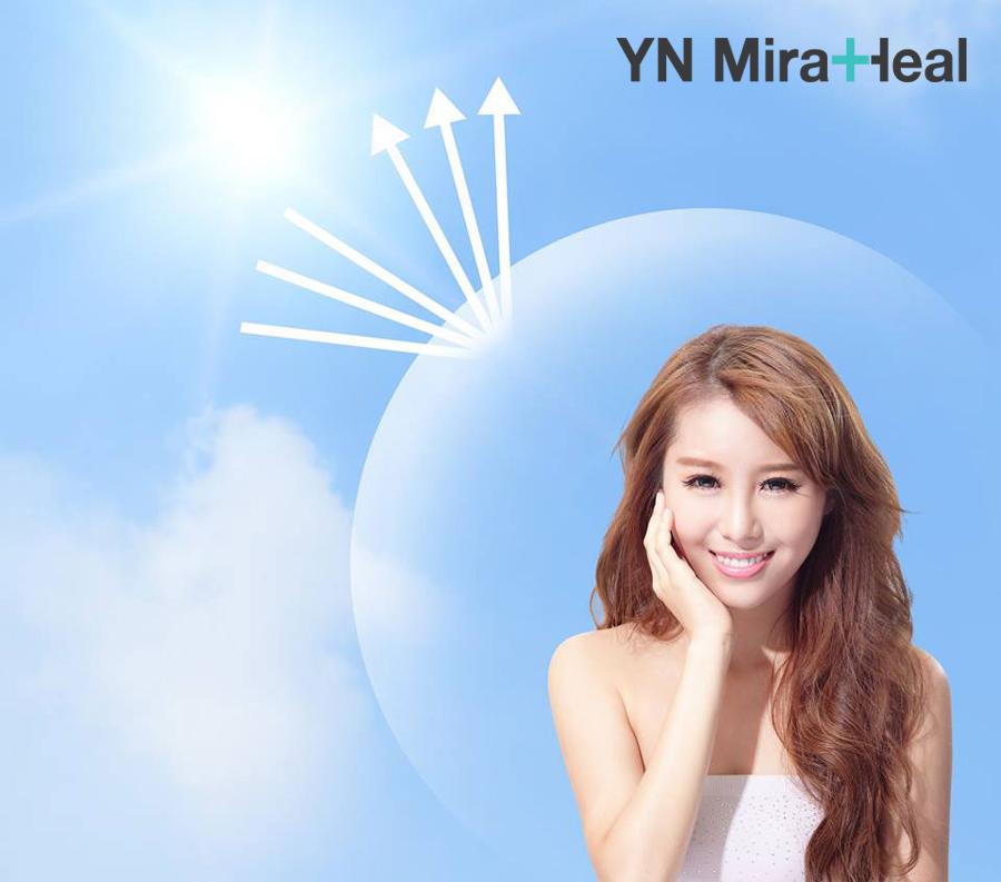 KCN vật lý tạo lớp màng phản xạ tia UV bảo vệ làn da