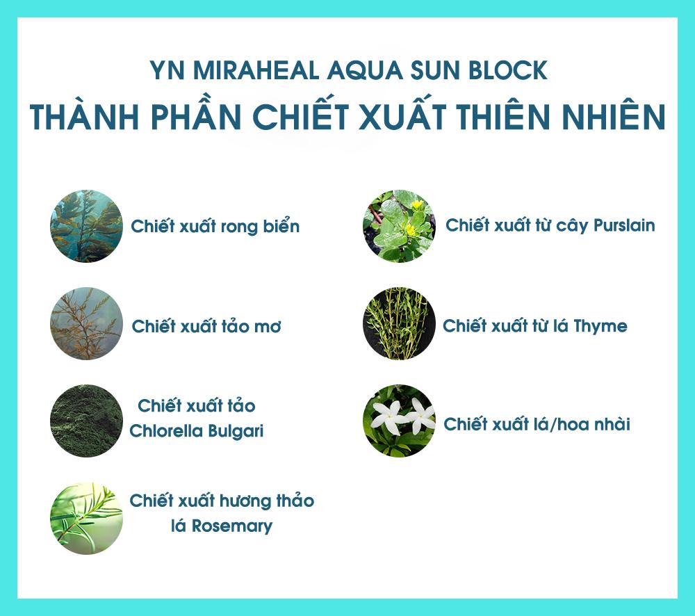 Kem chống nắng YN Miraheal tích hợp thành phần thiên nhiên dưỡng trắng da, ngăn ngừa lão hóa hiệu quả