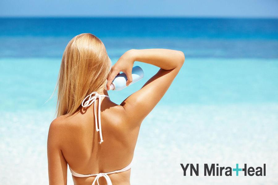 Kem chống nắng toàn thân dạng xịt chỉ thích hợp khi đi biển