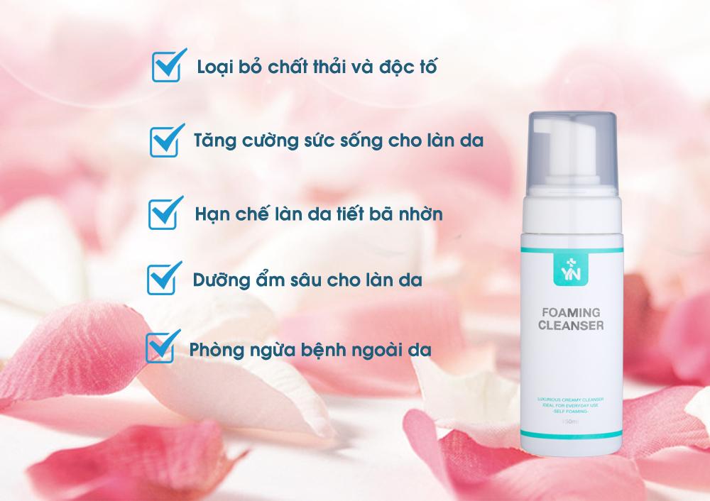 Công dụng của sữa rửa mặt YN Miraheal Foaming Cleanser