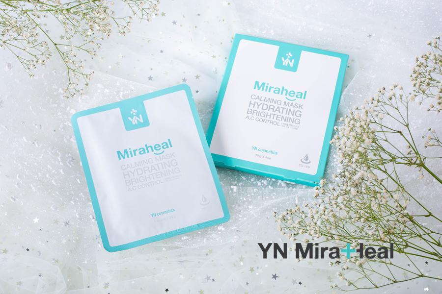 Mặt nạ cấp ẩm YN Miraheal Caliming Mask được khuyến cáo sử dụng chp những làn da nhạy cảm, da đang điều trị da liễu