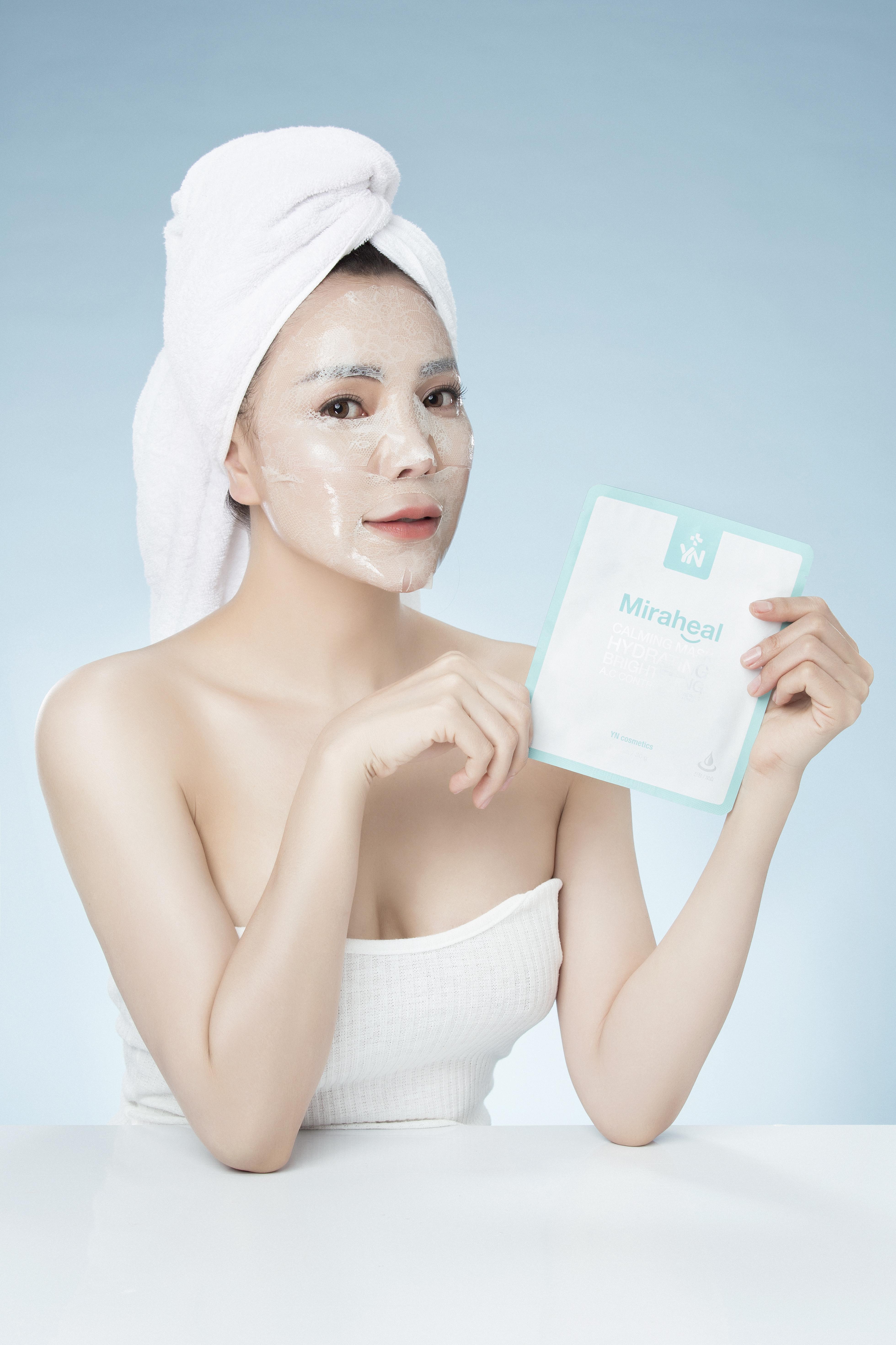 Đắp mặt nạ cấp ẩm và ngừa lão hóa YN Miraheal Calming Mask