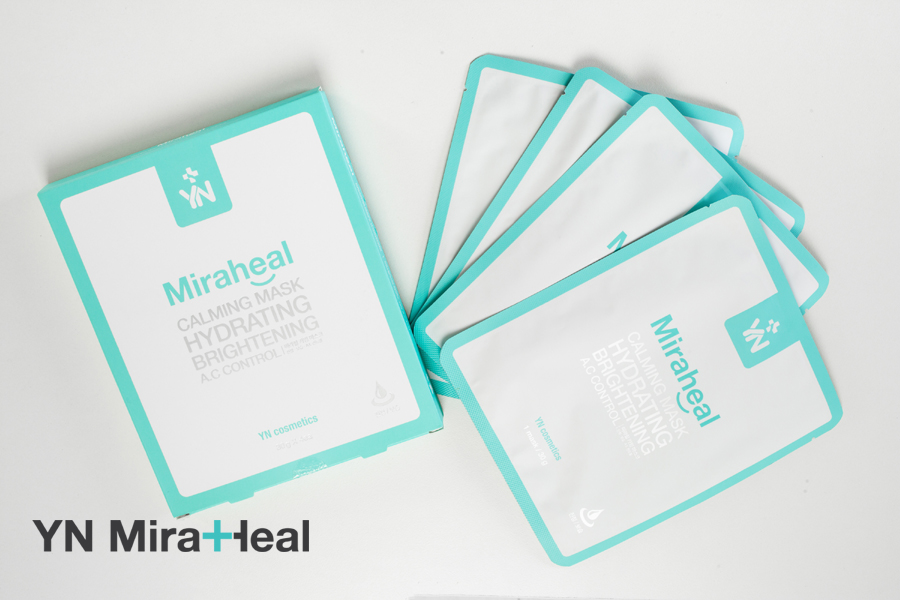Một hộp mặt nạ dưỡng da YN Miraheal có 4 miếng