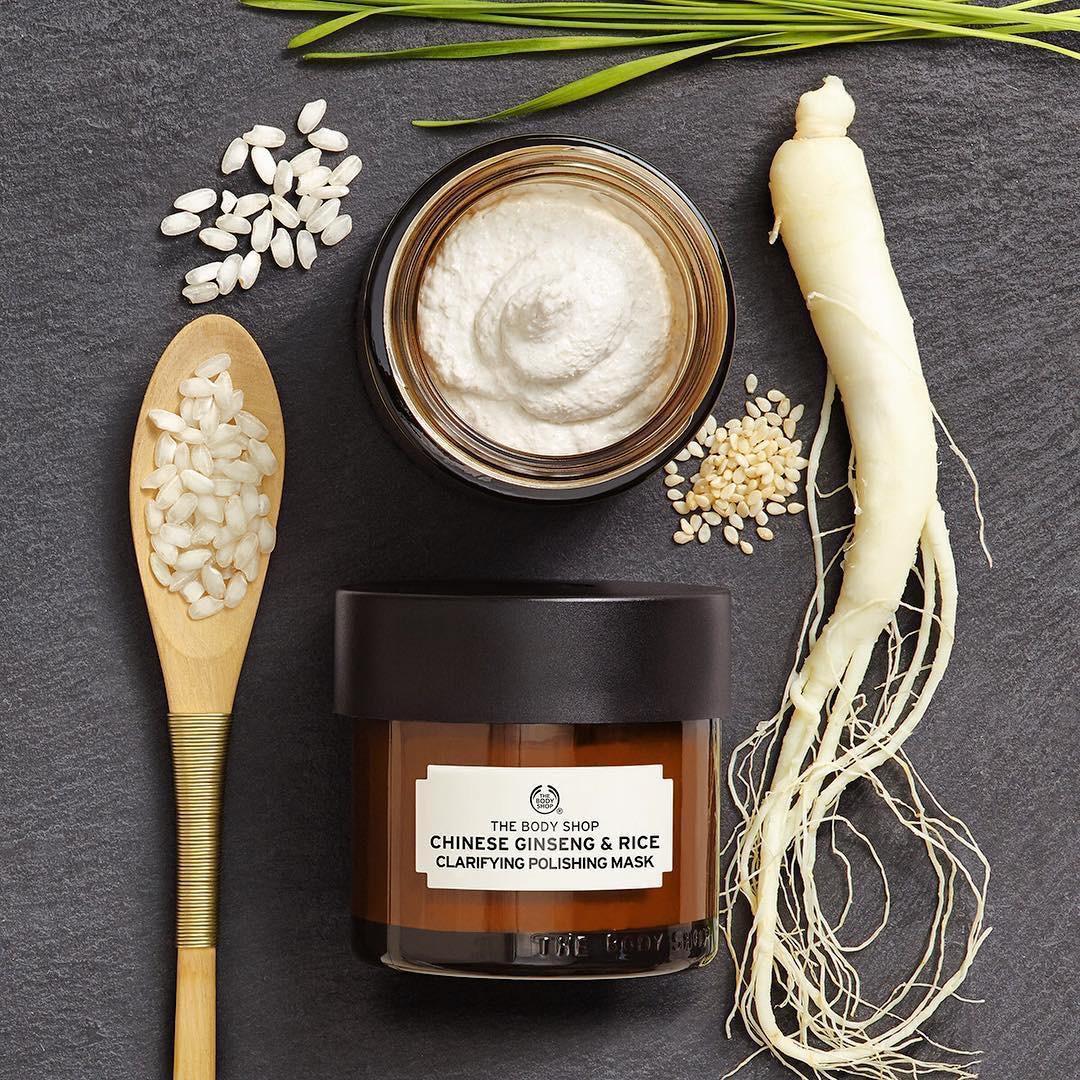 Mặt nạ dưỡng da từ nhân sâm The Body Shop Chinese Ginseng & Rice Clarifying Polishing Mask
