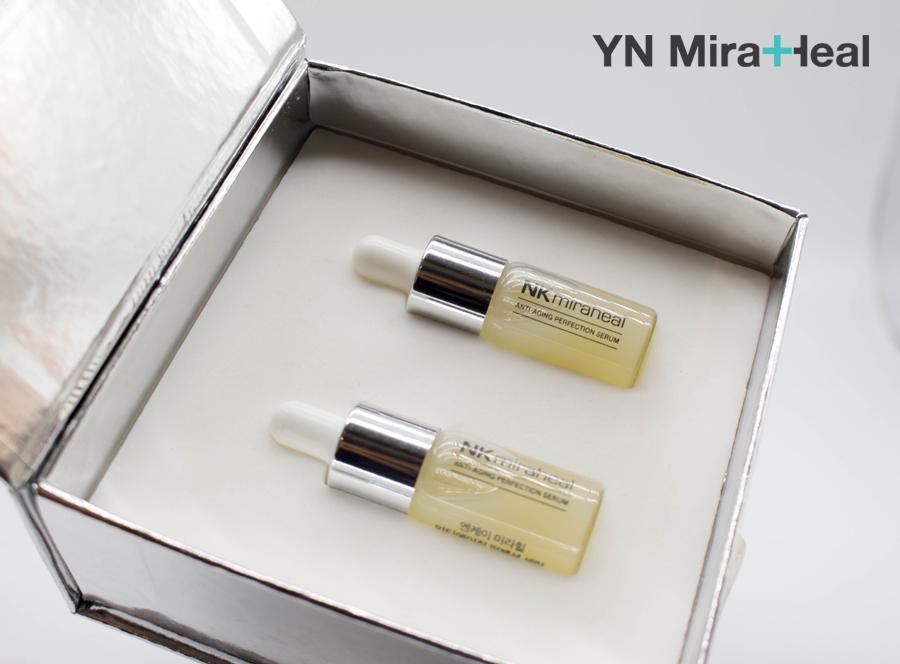 Serum trị thâm mụn YN Miraheal Serum được khuyên dùng cho làn da nhạy cảm, da đang điều trị da liễu